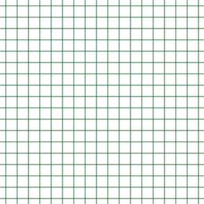 "kelly green windowpane grid 1"" square check graph paper"