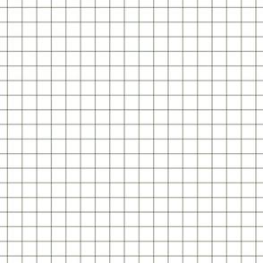 """sage green windowpane grid 1"""" square check graph paper"""