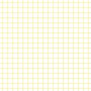 "lemon yellow windowpane grid 1"" square check graph paper"