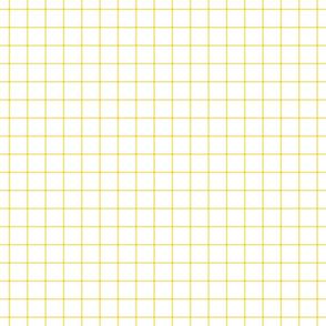 "butter yellow windowpane grid 1"" square check graph paper"