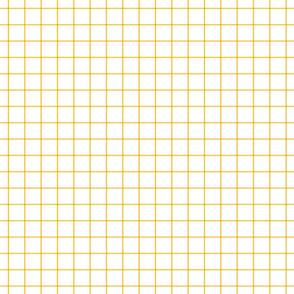 "golden honey windowpane grid 1"" square check graph paper"
