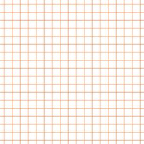 """tangerine windowpane grid 1"""" square check graph paper"""