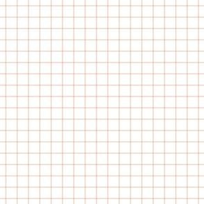 """blush windowpane grid 1"""" square check graph paper #F9CABA"""