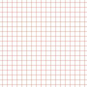 """peach windowpane grid 1"""" square check graph paper"""