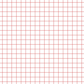 "coral windowpane grid 1"" square check graph paper"