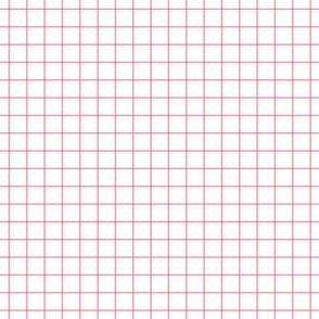 """pretty pink windowpane grid 1"""" square check graph paper"""