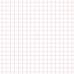 "light pink windowpane grid 1"" square check graph paper"