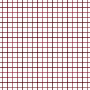 """red windowpane grid """" square check graph paper"""