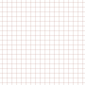 """dusty pink windowpane grid 1"""" square check graph paper"""
