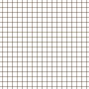 """brown windowpane grid 1"""" square check graph paper"""