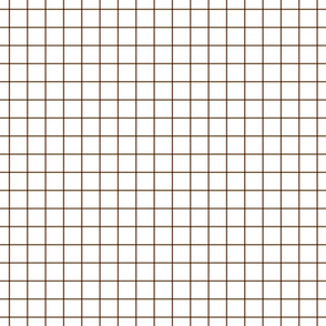 "chocolate brown windowpane grid 1"" square check graph paper"