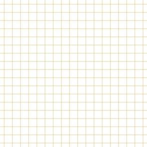"""creamy banana windowpane grid 1"""" square check graph paper"""