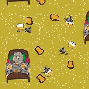 dream honey bear_ main print yarrow yellow