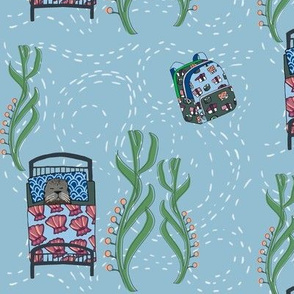 dream sea otter_ main print sky blue