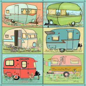 Quilting camping with camper squares by Salzanos