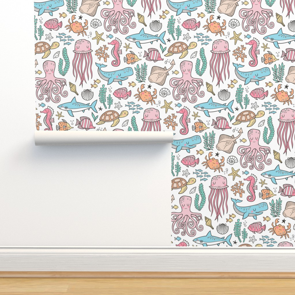 Ocean Marine Sea Life Doodle With On Isobar By Caja Design