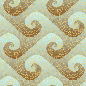 wave mosaic - antique