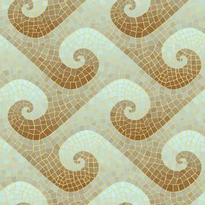 wave mosaic - antique
