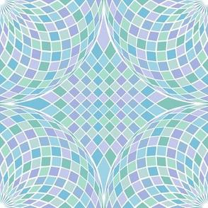 geodesic sphere - pastel blues