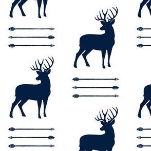 bucks and arrow stack (navy)