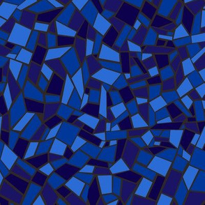 Mosaic Tile / Stained Glass Texture Blue