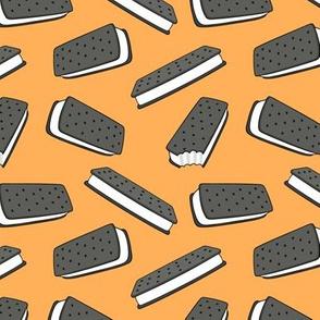 ice cream sandwich - orange