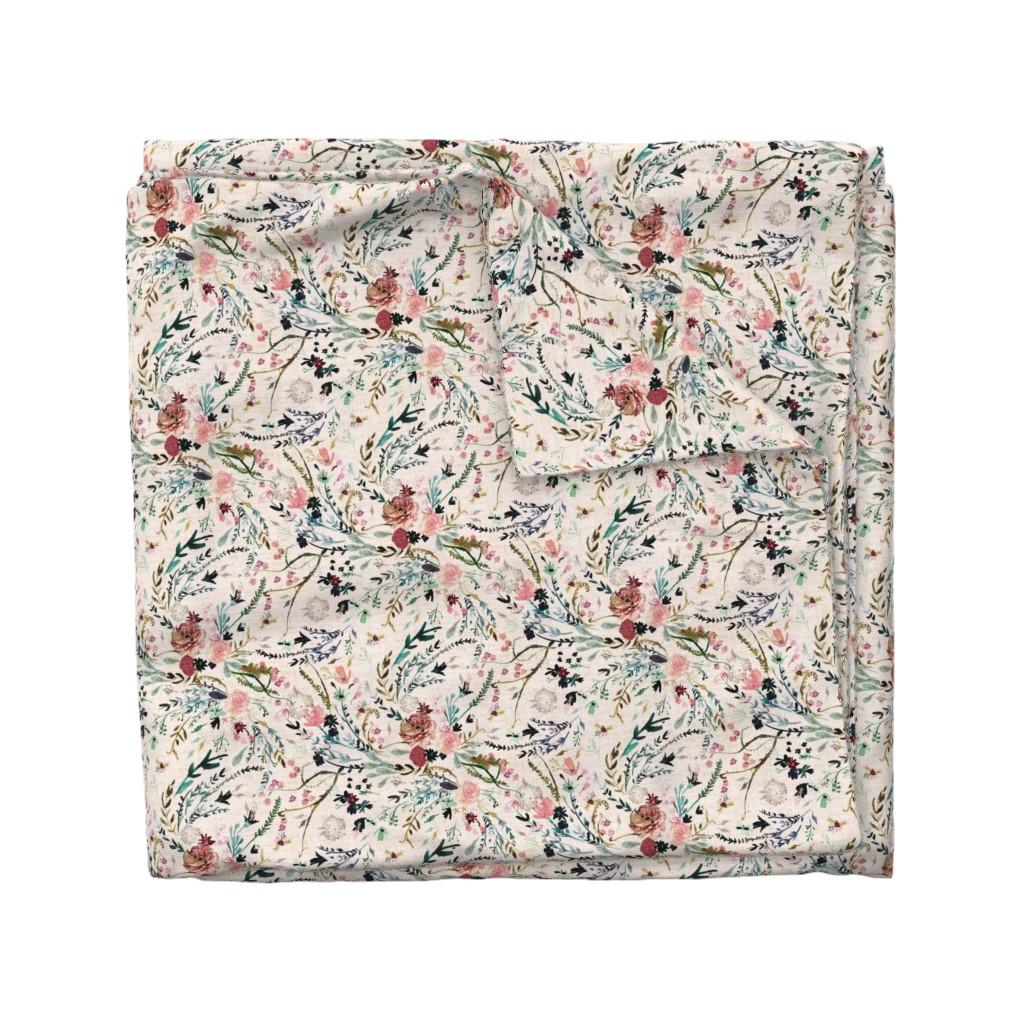 Wyandotte Duvet Cover featuring Fable Floral (blush) MED by nouveau_bohemian