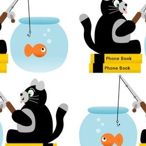 Snack Time Cat Fishing