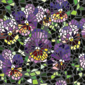 mosaic purple pansy