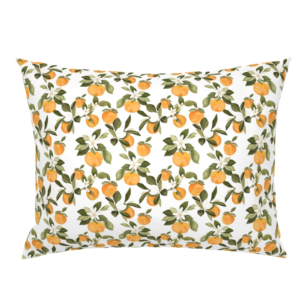 Campine Pillow Sham featuring Orange Blossom by mintpeony