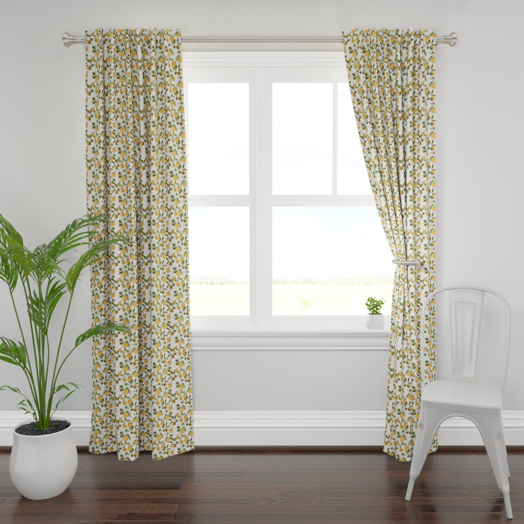 Plymouth Curtain Panel featuring Orange Blossom by mintpeony