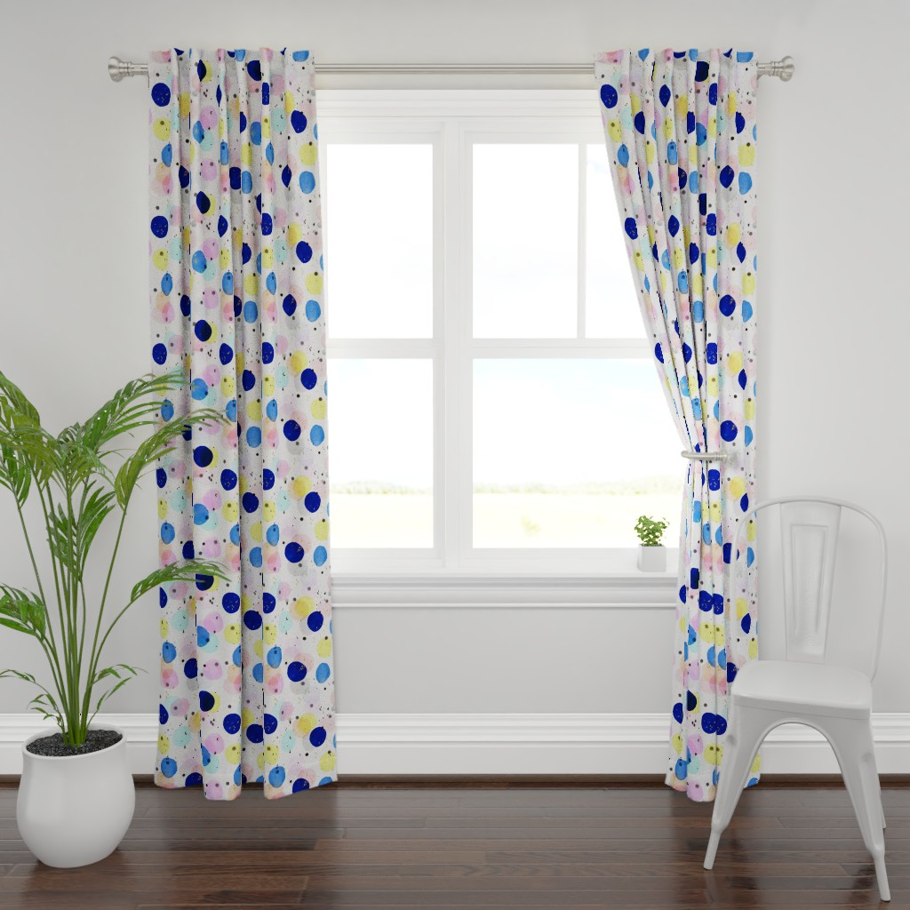 Plymouth Curtain Panel featuring Magical Confetti Dots by crystal_walen