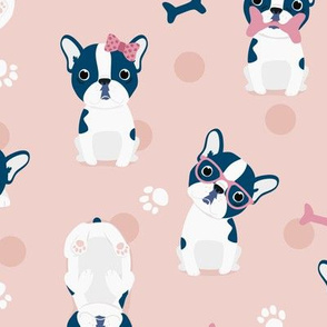 Frenchie - Pink French Bulldog