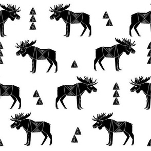 moose fabric // black and white andrea lauren fabric nursery baby black and white scandi design