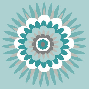 turquoise spiky flower