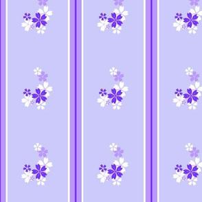 Purple floral stripe