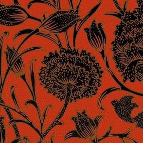 William Morris ~ Wild Tulip ~ Libertine, Gilt and Black