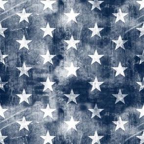 distressed stars on navy