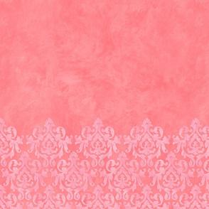 Pink-Coral Damask Sleeve 33
