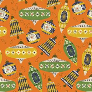 Vintage Ornaments - orangeade
