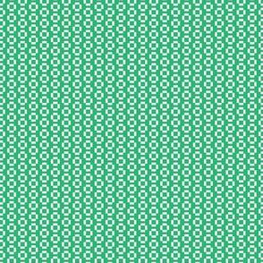Digital White Squares on Green
