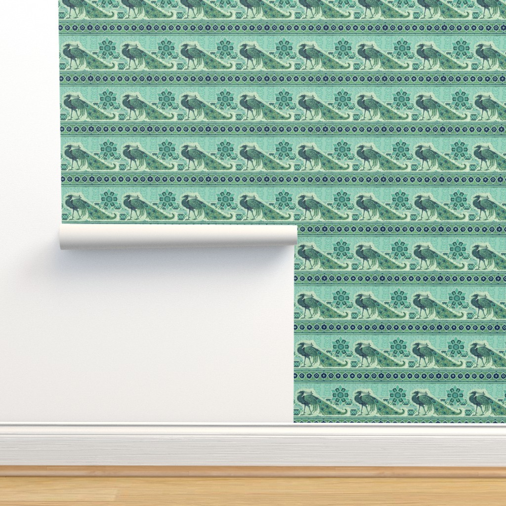 Isobar Durable Wallpaper featuring Peacock 50 by chicca_besso