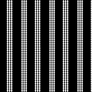 white bubble lines on black