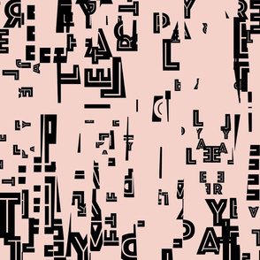 letter play - edited black/pink