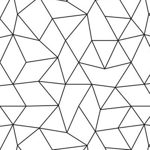 Abstract basic geometric triangle raster trend black and white
