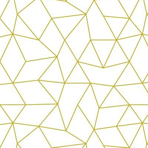 Abstract basic geometric triangle raster trend ochre mustard yellow