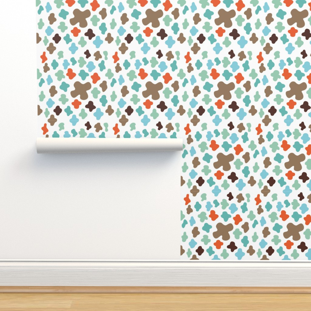 Isobar Durable Wallpaper featuring scattered crosses – white by colorofmagic