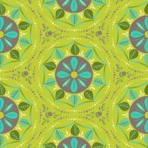 Mandala spring green