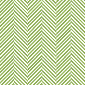 Avocado Green and white chevron
