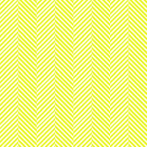 Yellow and white herringbone chevron // Sunshine herringbone